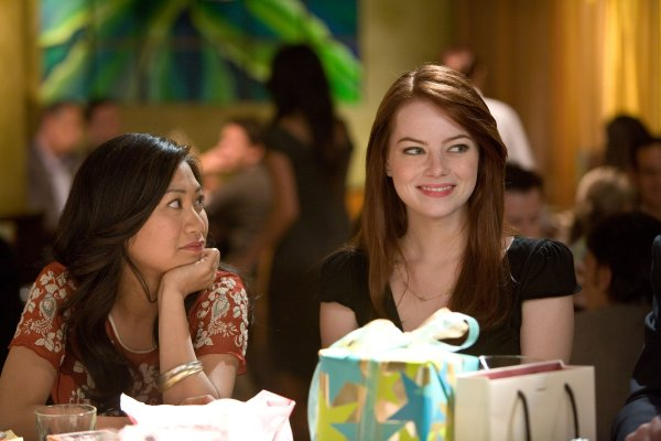 Emma Stone and Liza Lapira in Crazy Stupid Love
